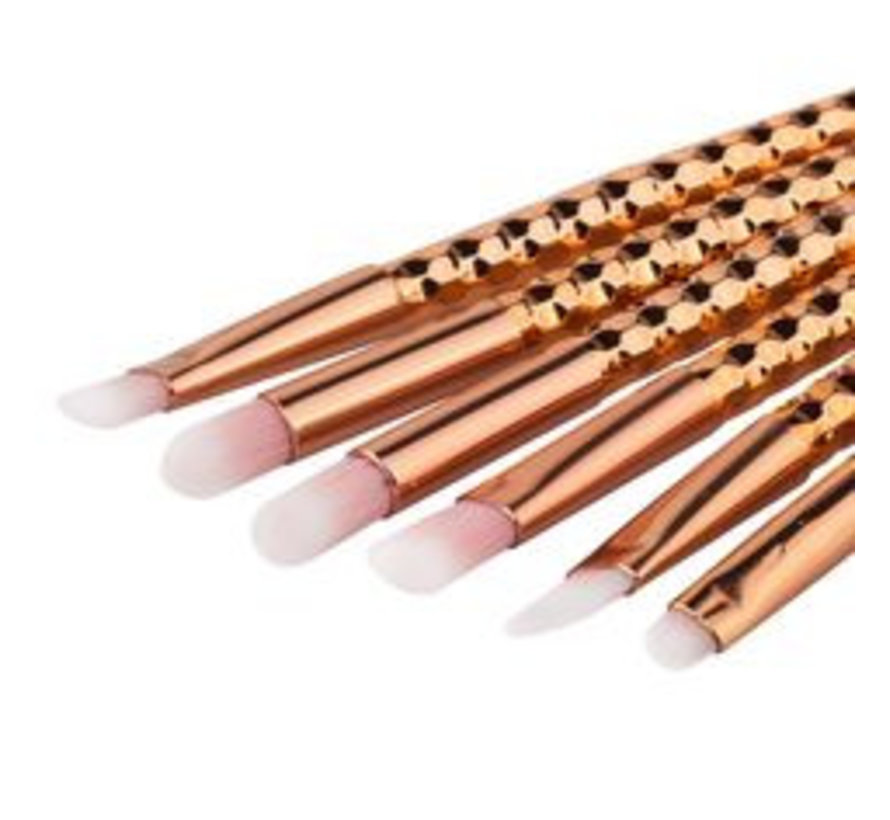 Brush Set - Rose Diamond 6 PC