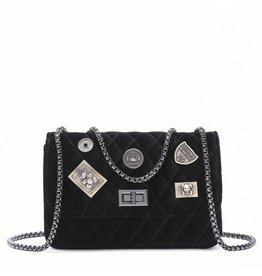 Velvet Bag Patched - Black