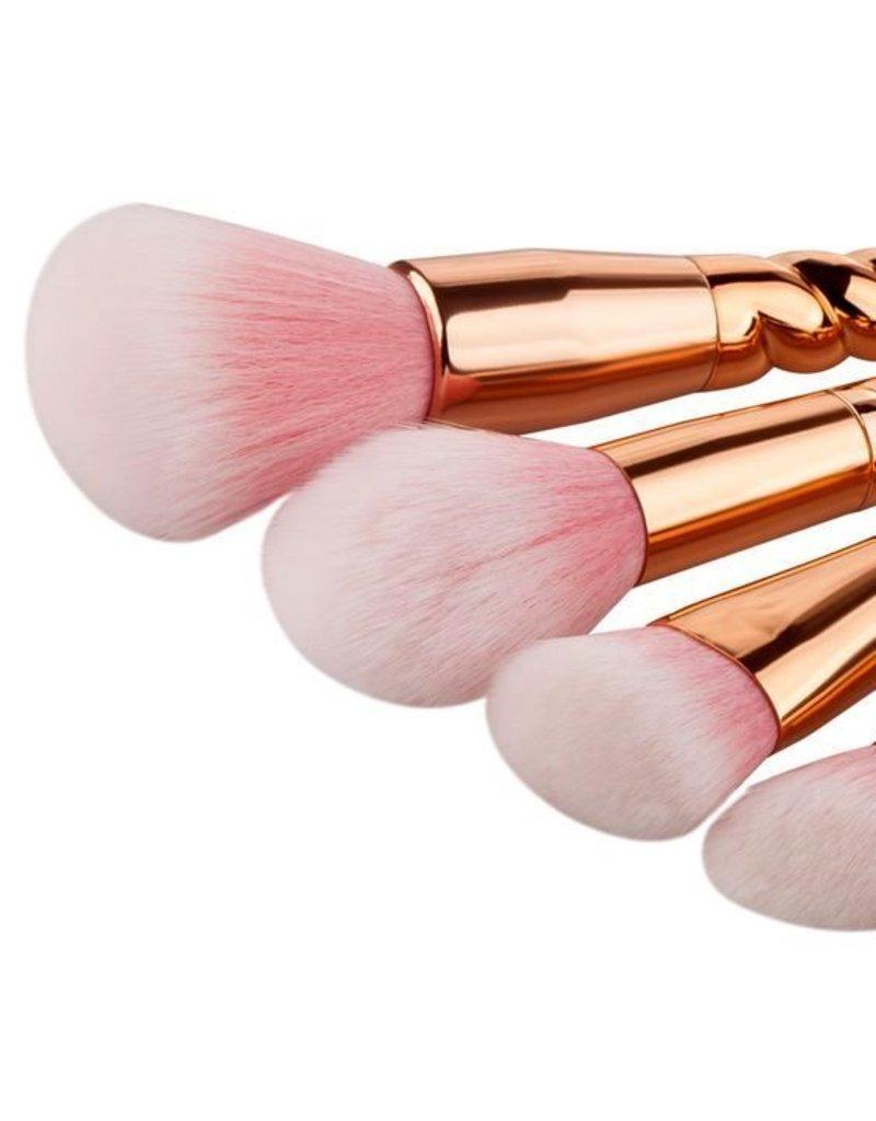 Brush Set - Rose Gold Unicorn Brushes 5 PC