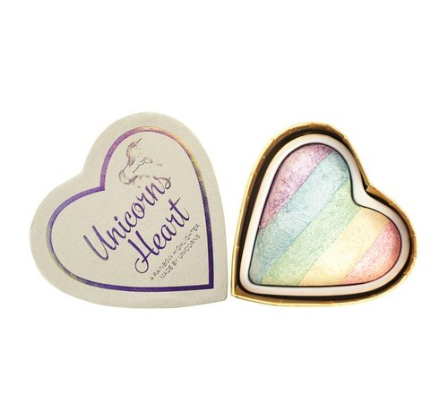 Makeup Revolution Hearts - Unicorns Heart - Regenboog Highlighter