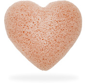The Konjac Sponge Heart Puff Pink Clay