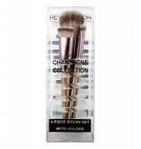 Makeup Revolution Champagne Brushes & Holder