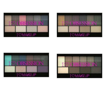 Makeup Revolution I Heart Obsession Palettes Bundel