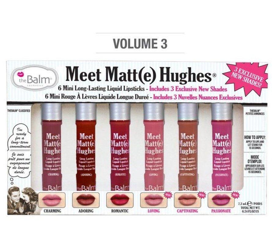 Meet Matt(e) Hughes Mini Liquid Lipsticks Set - Vol. 3