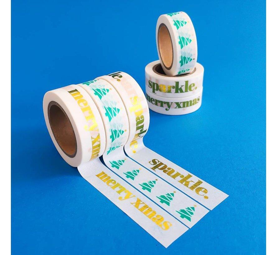 Stationery Masking Tape - Merry XMAS