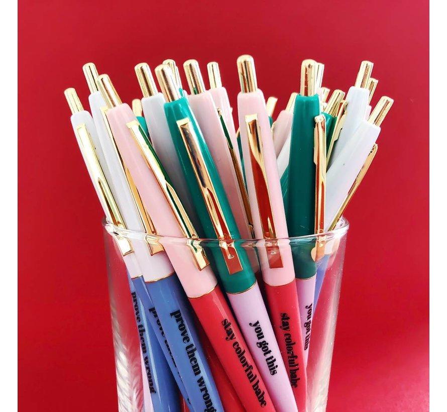 Stationery Ballpen Set - Stay Colorful