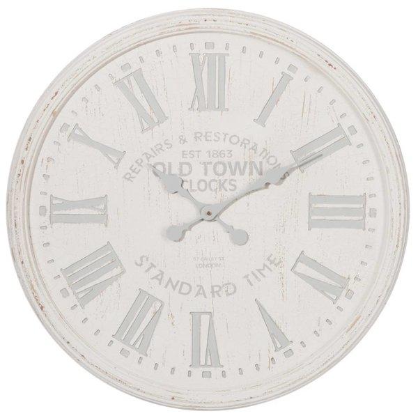 J-Line Wandklok Wit/Grijs - 89,5 cm