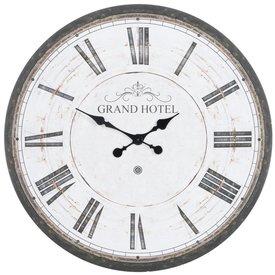 J-Line Wandklok Grand Hotel Wit - 80 cm