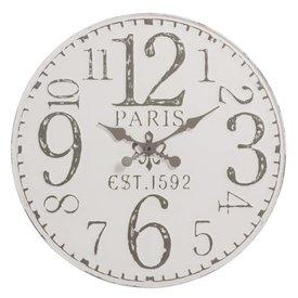 J-Line Wandklok Paris antiek wit - 71,5x7 cm