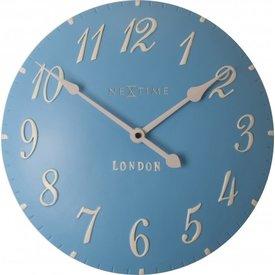 Nextime Wandklok London Arabic blauw - Ø 34 cm