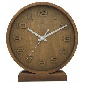 Nextime Tafelklok Wood klein bruin - 20x22x4 cm