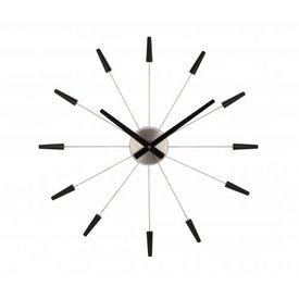 Nextime Wandklok Plug Inn zwart - Ø 58 cm