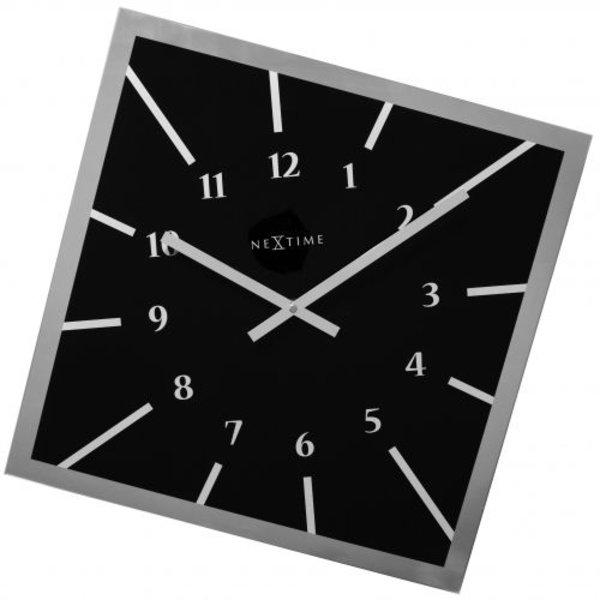 Nextime Wandklok Off Balance zwart - 61x61x3 cm
