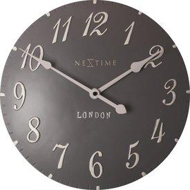 Nextime Wandklok London Arabic grijs - Ø 34 cm