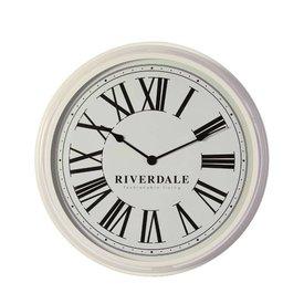 Riverdale Wandklok Time White - Ø68 cm