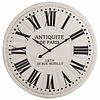 Wandklok Antiek De Paris Wit/Zwart - Ø113 cm