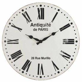 J-Line Wandklok Antiquite De Paris Metaal - Ø96 cm