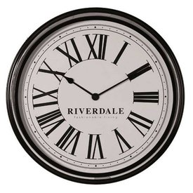 Riverdale Wandklok Time Black - Ø38 cm