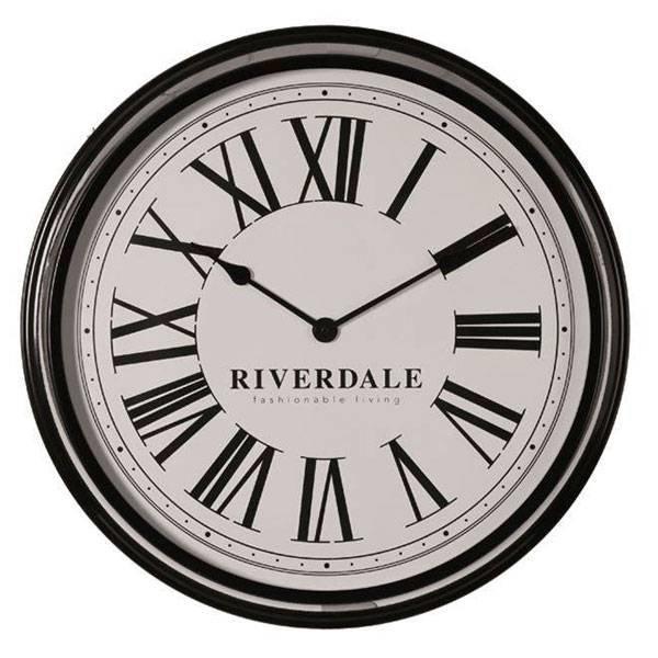 Riverdale Wandklok Time Black - Ø68 cm