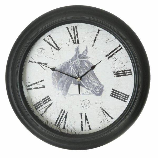 Clayre & Eef Wandklok Horse - Ø40 cm