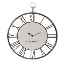 Riverdale Wandklok Luton Zilver - 50x6xH60 cm