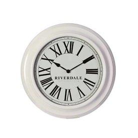 Riverdale Witte Wandklok Time - Ø46 cm