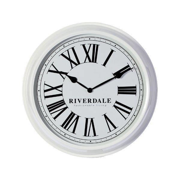 Riverdale Witte Wandklok Time- Ø52 cm