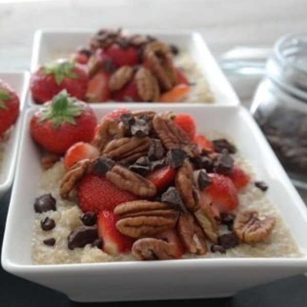 Quinoa met aardbei
