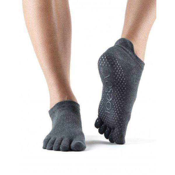 Yoga sokken extra grip charcoal