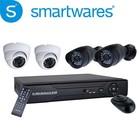 Smartwares 4-Kanaals DVR beveiligingssysteem met 4 camera's (DVR620S)