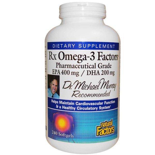 Natural Factors Rx Omega-3 Factors, 630 mg, 240 Kapseln (EPA 400 mg / DHA 200 mg) zum Bestpreis