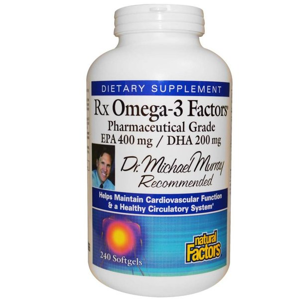 Natural Factors Rx Omega-3 Factors, EPA 400 mg / DHA 200 mg (240 Kapseln) - Bestpreis