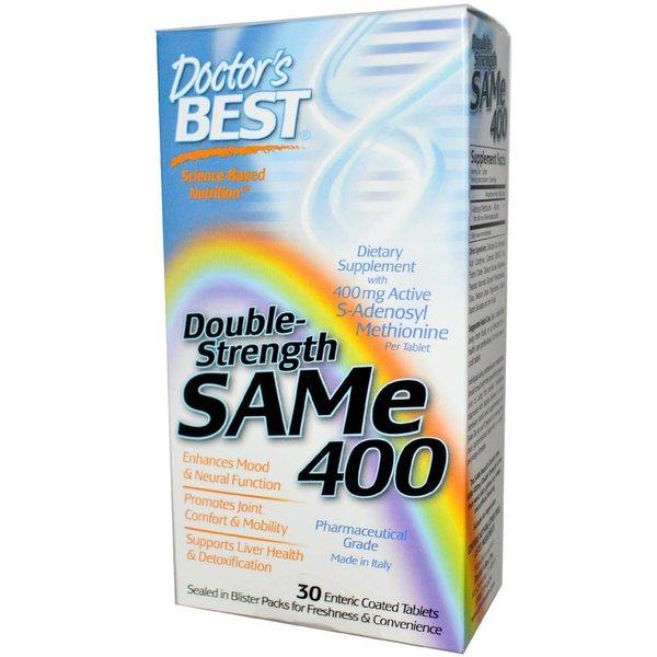 Doctor's Best SAM-e 400, Double-Strength, 30 magensaftresistente Tabletten