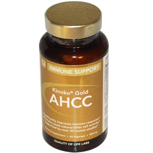 Quality of Life Labs Kinoko AHCC Gold, Immune Support, 500 mg, 60 Veggie Kapseln