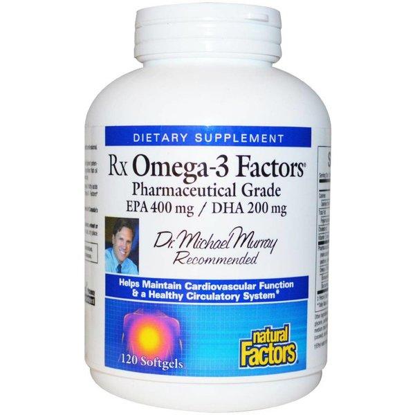 Natural Factors Natural Factors, Rx Omega-3 Factors, 120 Kapseln (EPA 400 mg / DHA 200 mg)