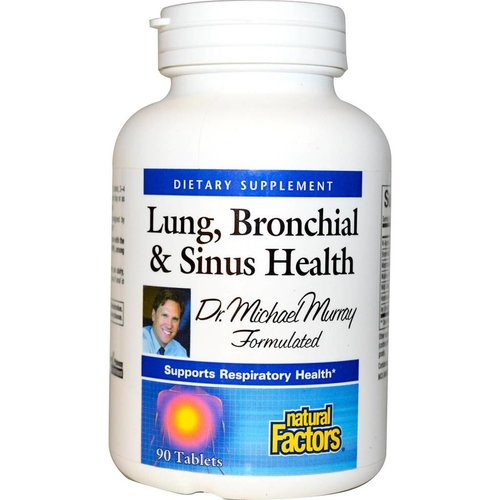 Natural Factors Lung, Bronchial & Sinus Health, 90 Tabletten: Atemwegsformel