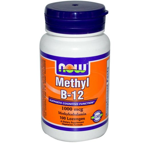 Now Foods Methyl B-12, 1000 mcg, 100 Lutschtabletten