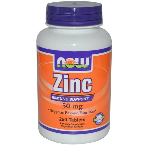 Now Foods Zinc, 50 mg, 250 Tabletten