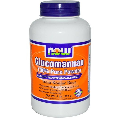 Now Foods Glucomannan 100% reines Pulver, 227 g (100% Pure Powder)