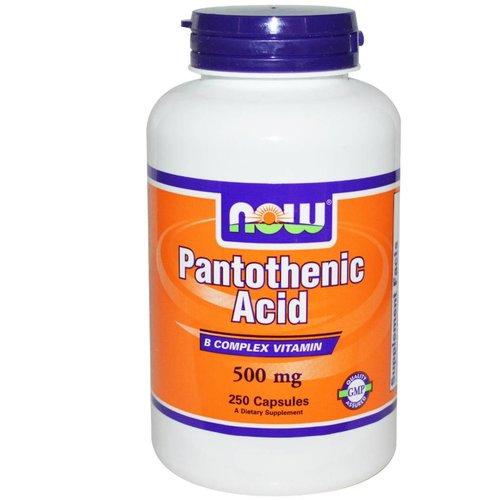 Now Foods Pantothenic Acid, 500 mg, 250 Kapseln