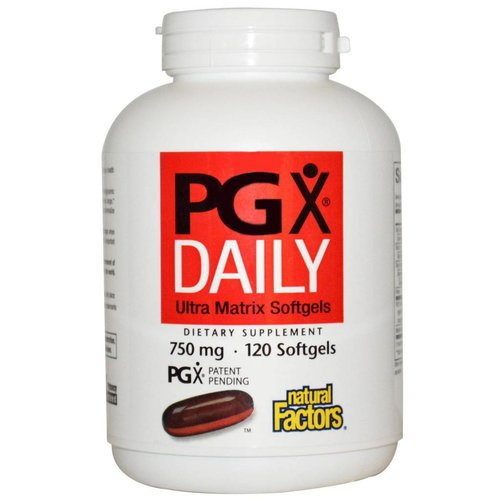 Natural Factors PGX Daily, Ultra Matrix Softgels, 750 mg, 120 Softgels
