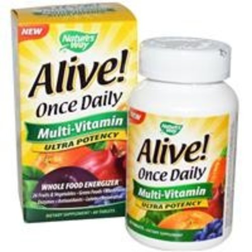 Nature's Way Alive!, Einmal täglich, Multi-Vitamin, 60 Tabletten