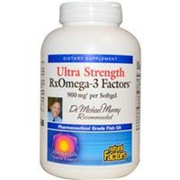 Natural Factors Ultra Strength Rx-Omega-3 Factors, 900 mg, 150 Kapseln magensaftresistent