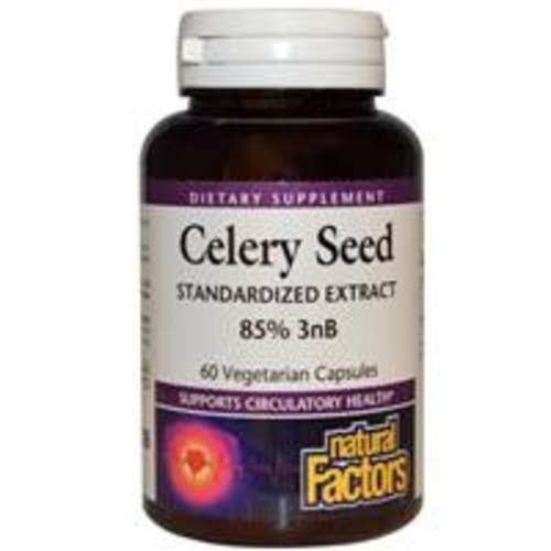 Natural Factors Selleriesamen-Extrakt 60 Kapseln (Celery Seed)