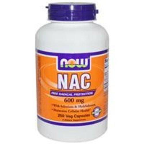 Now Foods NAC (N-Acetylcystein), 600 mg, 250 Veggie Kapseln