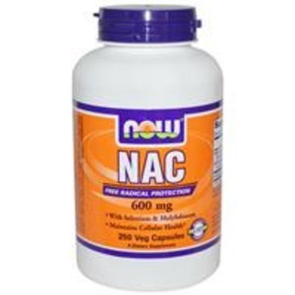 Now Foods NAC (N-Acetylcystein), 600 mg, 250 Veggie Kapseln:N-Acetylcystein
