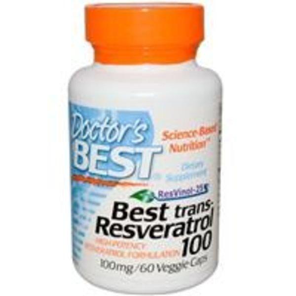 Doctor's Best Resveratrol 100 mit Resvinol-25, 60 vegetarische Kapseln (Resvinol-25 ist ein hochwertiges Extrakt)