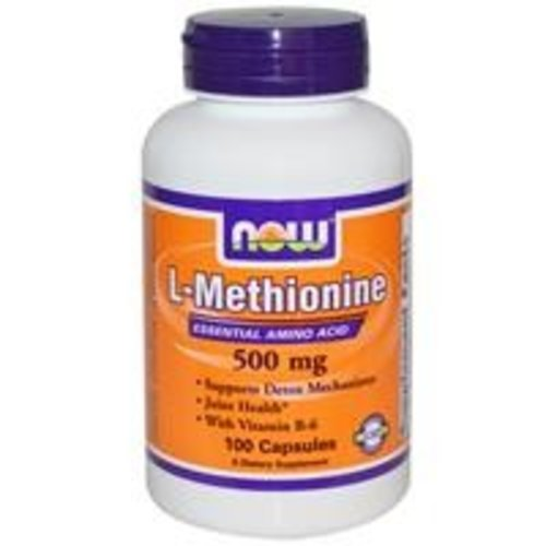 Now Foods L-Methionin, 500 mg, 100 Kapseln