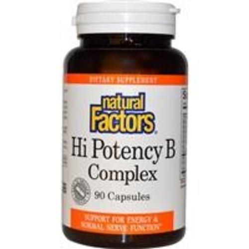 Natural Factors Vitamin B-Komplex, höchste Potenz, 50 mg, 90 Kapseln