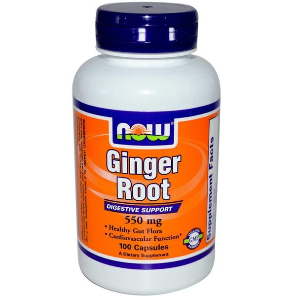Now Foods Ingwerwurzel (Ginger Root) 550 mg - 100 Kapseln (Zingiber officinale) Gesunde Verdauung & Immunsysten